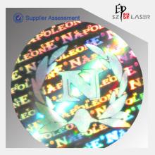 Holograma de Qulity elevado etiqueta autocolante de máquina para promoção