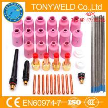 Wp17 / wp26 tig peças de solda de soldagem 46PK tig soldagem collet peças kits