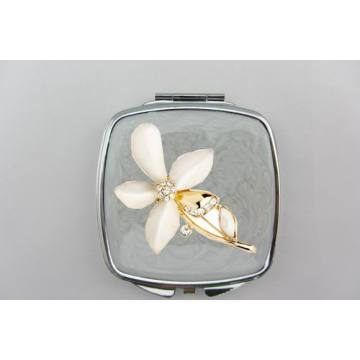 White Flower Compact Mirrors