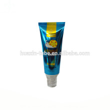 plastic hair tube for bpa free cosmetic packaging with screw cap