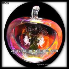 K9 3D Laser Angel Inside Colorful Crystal Apple