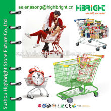 shopping trolley shopping cart with baby seat
