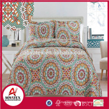 European style high quality pigment printing polyester comforter sets