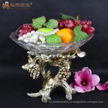 Посуда смолы конфеты palte фруктами для свадьбы центральным