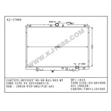 Radiador automático del proveedor de China para Honda Odyssey`95-98 Ra1 / Ra3 Mt