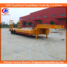 Heavy Duty 45ton 3 Axle Low Loader Semi Trailer with Mechanical Ramps
