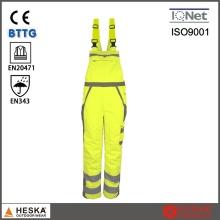 Men′s работы износ безопасности Bib штаны Если водонепроницаемый брюки с Светоотражающая лента