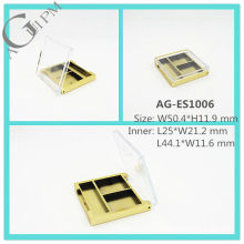 Transparent Lid Rectangular Eye Shadow Case AG-ES1006, AGPM Cosmetic Packaging , Custom colors/Logo