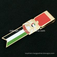 Custom Shape Brass Soft Enamel Money Clip for Government