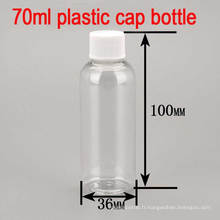 70ml Bouchon de vis en plastique vide Capuche Shampooing / Toner / Body Lotion Bouteille