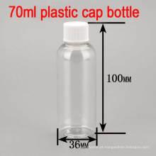 70ml Vazio de plástico Screw Cap Pele Shampoo / Toner / Body Lotion Bottle