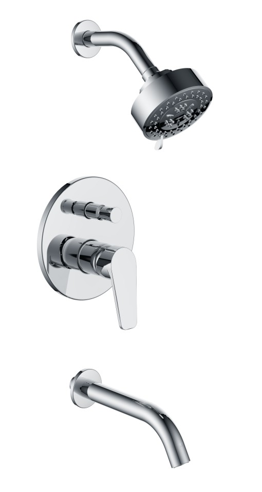 In-wall rain shower mixer two function concealed sets