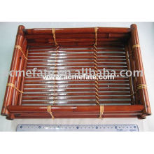 Plato de bambú desechable natural del bambú