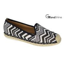 Frauen Espadrille Raffia Casual Flache Schuhe