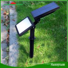 2-в-1 Регулируемый 48 LED Датчик света Спайк Солнечный сад двор свет 3 режима супер яркий настенный светильник пейзаж Прожектор