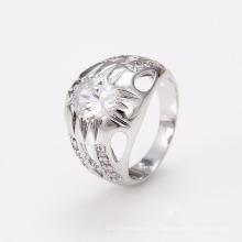 12449 Xuping boa qualidade China atacado cor prata anel de zircão jóias