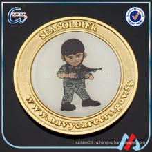 Солдатская металлическая золотая монета