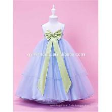 Kind-Kleidungs-Mädchen-Kleid-Blumen-Bogen-Bund-Ineinander greifen-Ballettröckchen-Kleid-Prinzessin-Kleid 10 Farbe Großverkauf D3