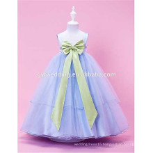 Children Clothing Girl Dress Flower Bow Waistband Mesh Tutu Dress Princess Dress 10 color Wholesale D3