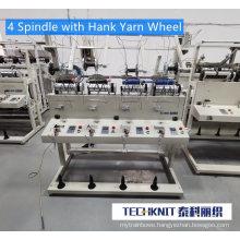 2 / 4 / 6 Spindle Yarn Hard Wax Rewinding Machine