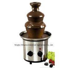 Machine de fontaine de fondue de chocolat d'acier inoxydable de trois rangées