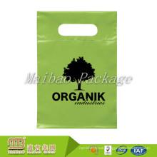 100% Biodegradable Custom Color Design Printing Die Cut Handles Green Plastic Bags