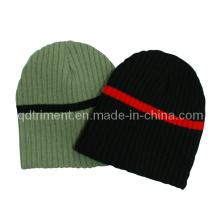 Контрастная лента Зимняя теплая акриловая трикотажная шапочка-шапочка (TRK022)