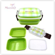 Ensemble de récipient de rangement de nourriture en plastique de boîte à déjeuner (830ml)
