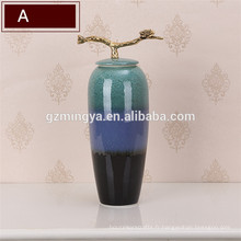 Style de style vintage décoration de la maison grand sol en céramique vases à fleurs maison vases décoratifs décoratifs