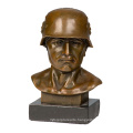 Male Bust Metal Sculpture Home Deco American Soldier Statue Tpy-511