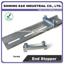 TA-002 Für Sicherungshalter Stahl Doppelte Totschiene Stopper Endklemme