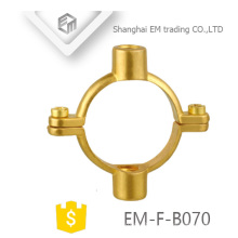 EM-F-B070 Circular Pipe Fixed wall dual purpose Brass Clamp