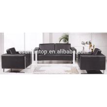 Conjuntos de sofá de cor pura para escritório usado, Design e venda de móveis para móveis de escritório (KS3109)