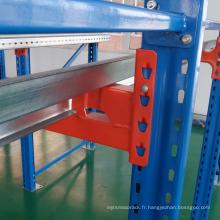 entraînement en rack d'entrepôt en acier dans le système de rayonnage de palette équipement industriel lourd de stockage