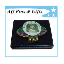 Personalized Metal Golf Hat Clip with Ball Marker (Golf-21)