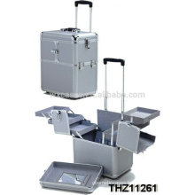 new design rolling cosmetic train case with 2 wheels