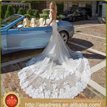 ASWY10 Sexy Mermaid Transperant Back Lace Train Bridal Wedding Dresses Online