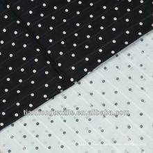 100% Cotton Soft handfeel Spot Jacquard Printed Fabric