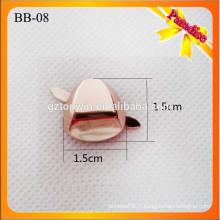 BB08 Boucle de chaussure en métal en métal personnalisé avec clips amovibles décoration en métal à main