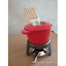 Cast Iron Cheese Pot/Fondue Set/Fondue Pot