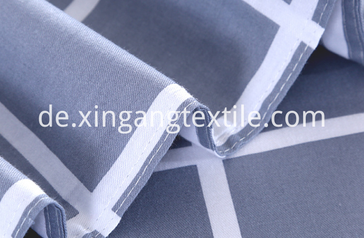100-Polyester-Customized-Blue-Plaid-Soft-Bed1