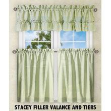 Ensembles de rideaux de cuisine 100% polyester