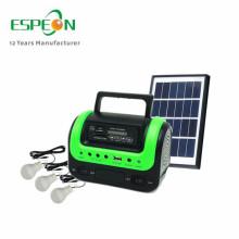 mini kleine indoor Dc solar home system 5 watt solar licht kit mit 4ah batterie solar camping beleuchtung system