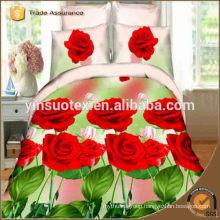 red rose love rose factory price bedding set