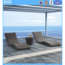Modern Design Outdoor Hotel Furniture Wave Daybed Rattan Dom Lounger