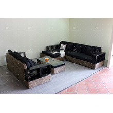 Luxury Wicker Furniture Water Hyacinth Sofa Set for Indoor Living Room