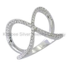 Bague à bijoux en argent sterling fashioned 925 en argent sterling (KR3093)