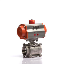3 PCS Pneumatic Double Acting Actuator Stainless Steel Ball Valve