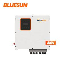 BLUESUNPV 3phases 8kw hybrid solar inverter inversor hibrido must solar inverter hybrid pure sine wave offgrid 10kw 12kw