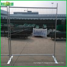 Les panneaux de clôture temporaires certifiés et iso ont été expédiés à vancouver canada